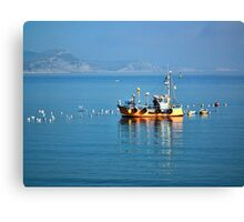 Slippery Dick Fishing Boat At Lyme Canvas Print