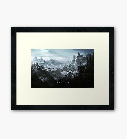 Skyrim Landscape Poster Framed Print