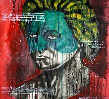 pop art Beethoven abstract ink painting  by Krzyzanowski Art