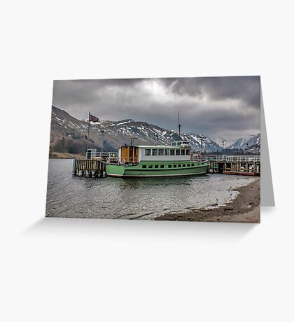 Tourist Boat at Glennridding Greeting Card