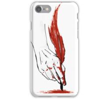 Written In Blood iPhone Case/Skin