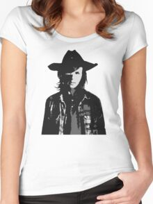 The Walking Dead - Carl Grimes Profile Women's Fitted Scoop T-Shirt