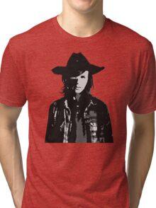 The Walking Dead - Carl Grimes Profile Tri-blend T-Shirt