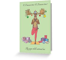 Merry X-moose, Yoga fans Greeting Card