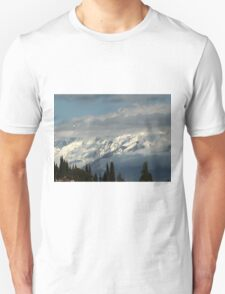 mountains with snow in winter T-Shirt
