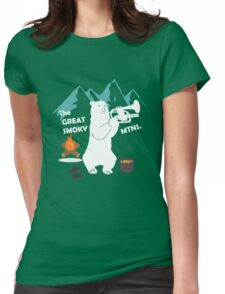 The Great Smoky Mountains Smokey Bluegrass Bear white Womens Fitted T-Shirt