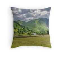 Hartsop Village Lake District Throw Pillow