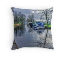 On The Canal Ripon Throw Pillow