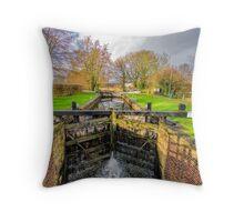 The Lock  Ripon Canal Throw Pillow