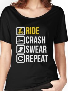 Bicycle - Ride Crash Swear Repeat Women's Relaxed Fit T-Shirt