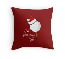 Oh Christmas Tee Golf Throw Pillow