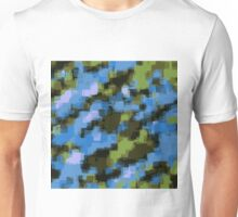 green black and blue square pattern abstract background Unisex T-Shirt
