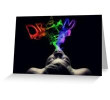 Dream Smoke Greeting Card