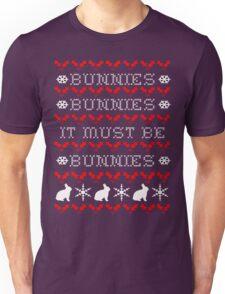 Bunnies Ugly Christmas Sweater (Buffy) Unisex T-Shirt