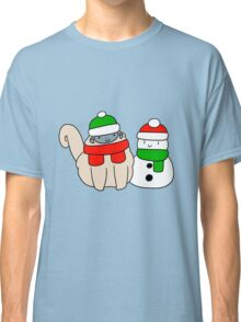 Fluffy Monkey and Snowman Classic T-Shirt