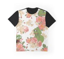 Pepe Floral Wallpaper Graphic T-Shirt