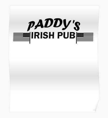 Paddys Irish Pub black Poster