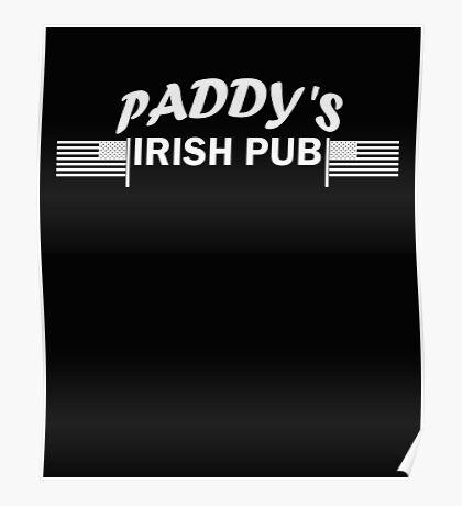 Paddys Irish Pub white Poster