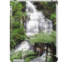 Triplet falls with Australian tree ferns iPad Case/Skin