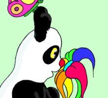 Panda and Flower Sticker