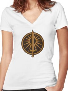 BattleTech House Davion Women's Fitted V-Neck T-Shirt