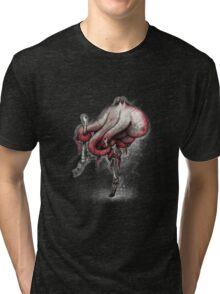 Octo Stilts Shirt (Dark Background) Tri-blend T-Shirt