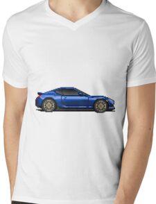Scion FRS - Subaru BRZ - Pixel Car Mens V-Neck T-Shirt