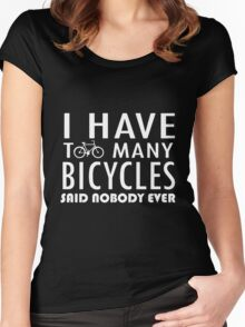 Bicycle - Too Many Bicycles Women's Fitted Scoop T-Shirt