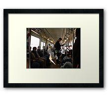 Busy Trains Framed Print
