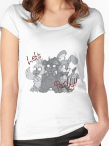 Freddy and the Gang - Greyscale Women's Fitted Scoop T-Shirt