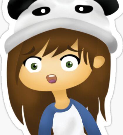 Amanda the Panda Alarmed Sticker