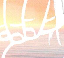 Sunset Shaka Sticker