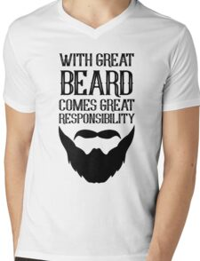 With Great Beard Comes Great Responsibility Mens V-Neck T-Shirt