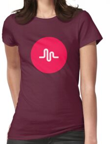 Musically Logo Premium Quality Womens Fitted T-Shirt
