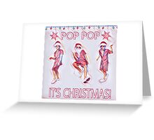 Bruno Mars Christmas Edition Part II Greeting Card