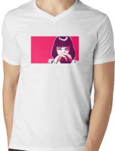 Pulp Fiction Pop Art Mens V-Neck T-Shirt