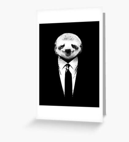 Sloth Suit Greeting Card