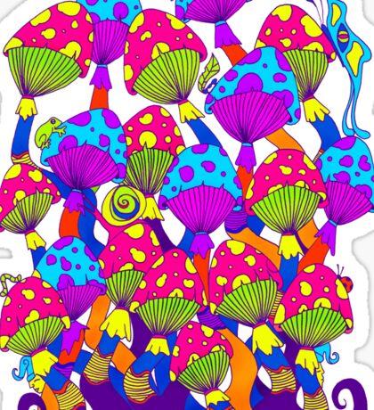 Indie Mushrooms Sticker
