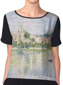 Vetheuil in Summer 1880 by Claude Monet Chiffon Top