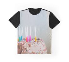 birthday cake with candles Graphic T-Shirt