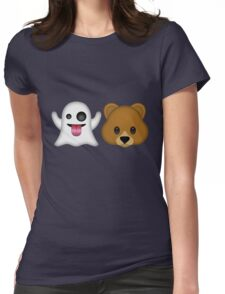 Ghost Bear 53 Emoji Womens Fitted T-Shirt