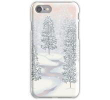 Snowy Day Winter Scene Print iPhone Case/Skin