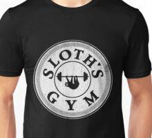 Sloth's Gym Distressed White Unisex T-Shirt
