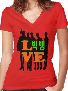 ㋡♥♫Love KPop BigBang-BibgBag Forever♪♥㋡ Women's Fitted V-Neck T-Shirt