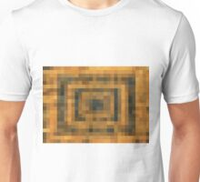 brown black and orange pixel abstract background Unisex T-Shirt