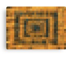 brown black and orange pixel abstract background Canvas Print