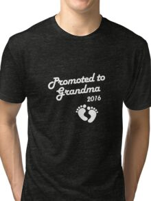 Promoted To Grandma 2016 New Baby Announcement Tri-blend T-Shirt