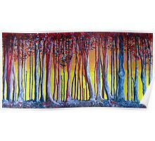 Blue trees, red trees Poster