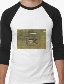 Male Wood Duck - Mud Lake Men's Baseball ¾ T-Shirt
