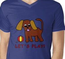 Doggy Let's Play! Mens V-Neck T-Shirt